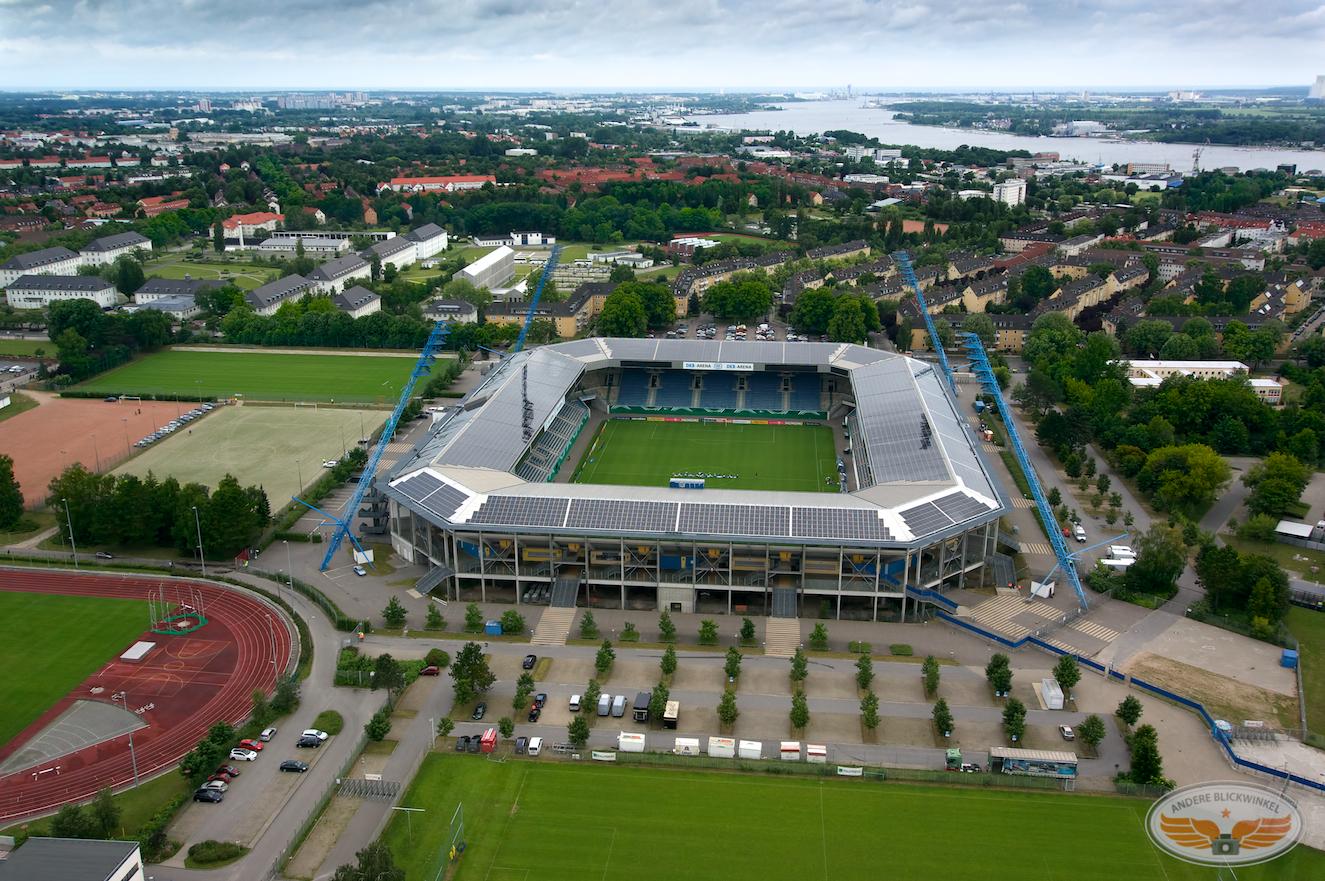 Luftaufnahme Ostseestadion