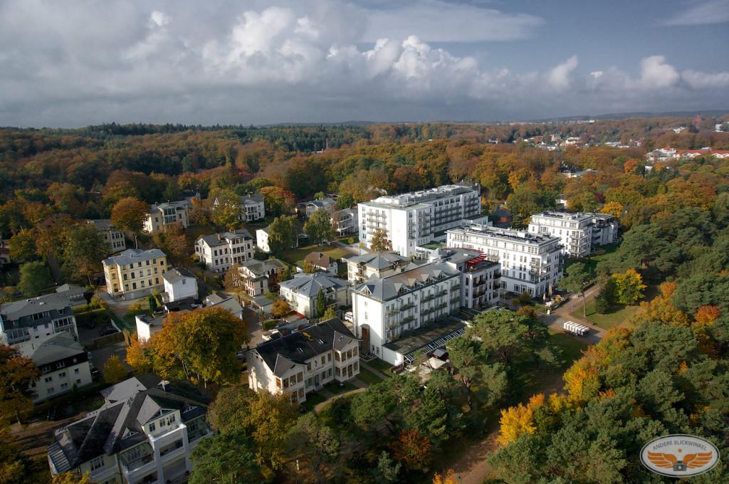 Usedom | Blick auf Hotelanlagen